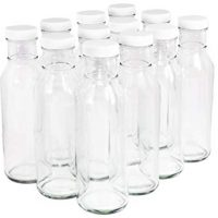 Clear Glass Beverage/Sauce Bottles, 12 Oz - Case of 12