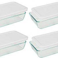 3-Cup Rectangle Food Storage (Pack of 4 Containers) (3 cup, Box of 4 Containers, White lid)