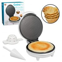Waffle Cone and Bowl Maker- Includes Shaper Roller and Bowl Press- Homemade Ice Cream Cone Iron Machine