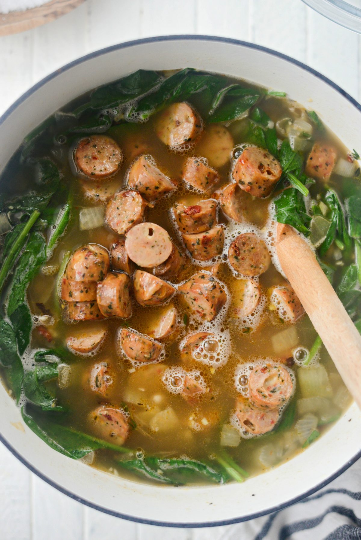 Chicken Sausage and White Bean Stew l SimplyScratch.com