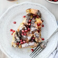 Gingerbread French Toast Bake l SimplyScratch.com