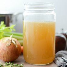 Homemade Turkey Stock l SimplyScratch.com