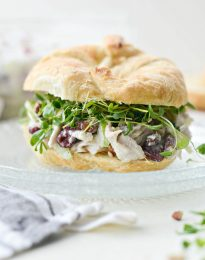 Roasted Turkey and Cranberry Salad with Greek Yogurt Dressing l SimplyScratch.com