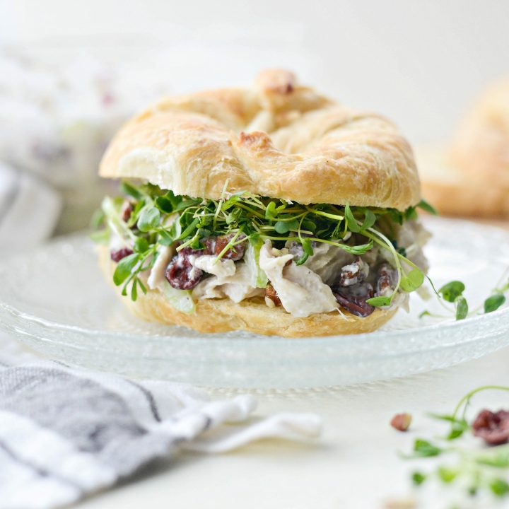 Roasted Turkey and Cranberry Salad with Greek Yogurt Dressing l SimplyScratch.com
