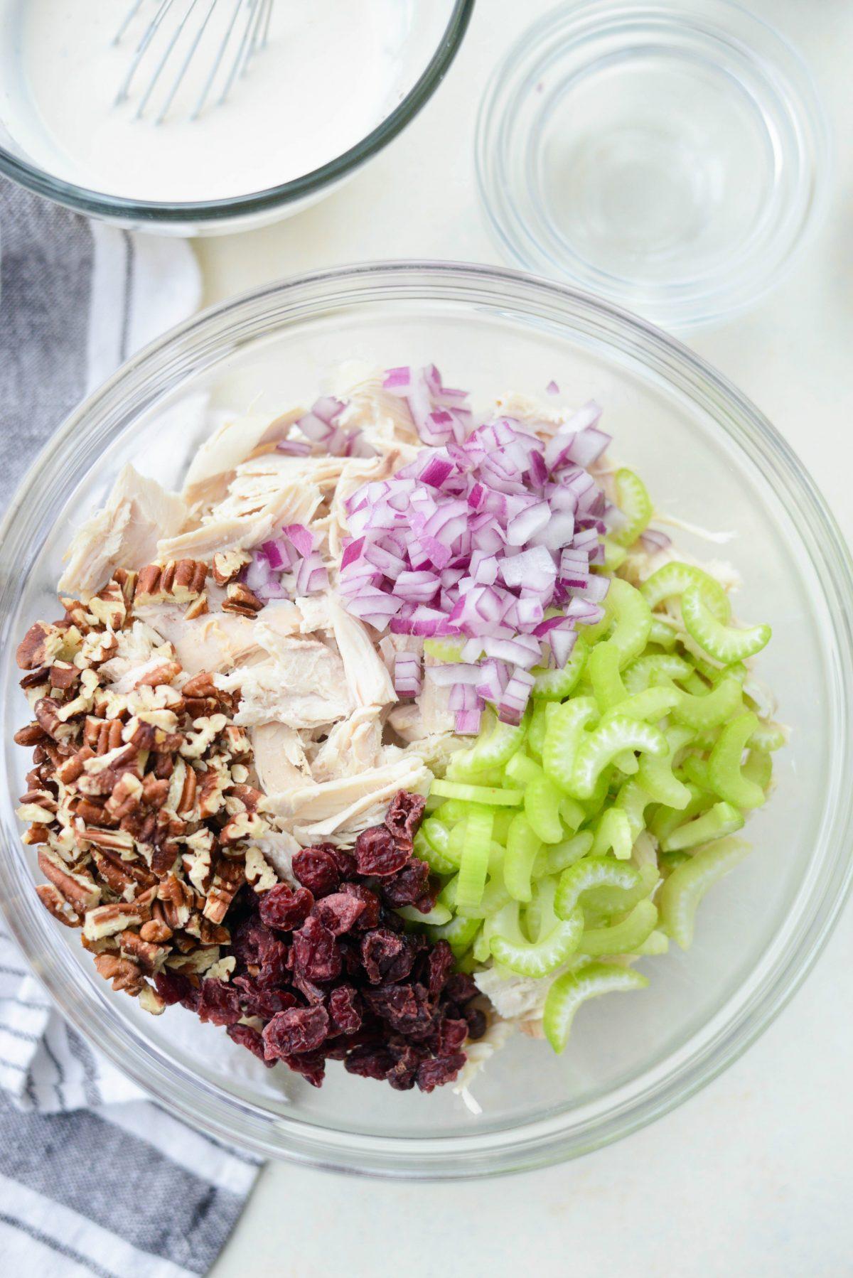 Roasted Turkey Cranberry Salad with Greek Yogurt Dressing l SimplyScratch.com