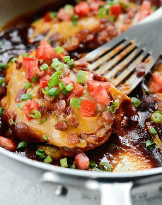 Skillet Monterey Chicken l SimplyScratch.com