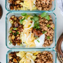 Turkey Taco Breakfast Scramble [meal prep!] l SimplyScrath.com