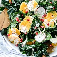 Winter Clementine Fennel and Kale Salad