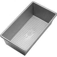 USA Pan 1140LF Bakeware Aluminized Steel 1 Pound Loaf Pan, Small, Silver