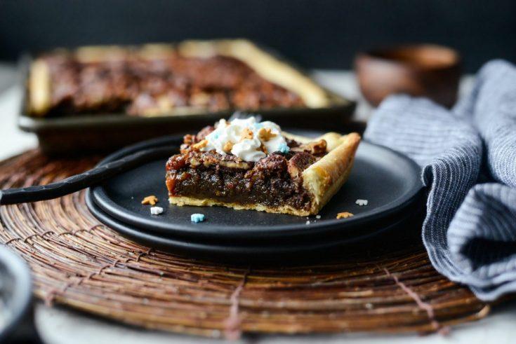 Gingerbread Pecan Slab Pie