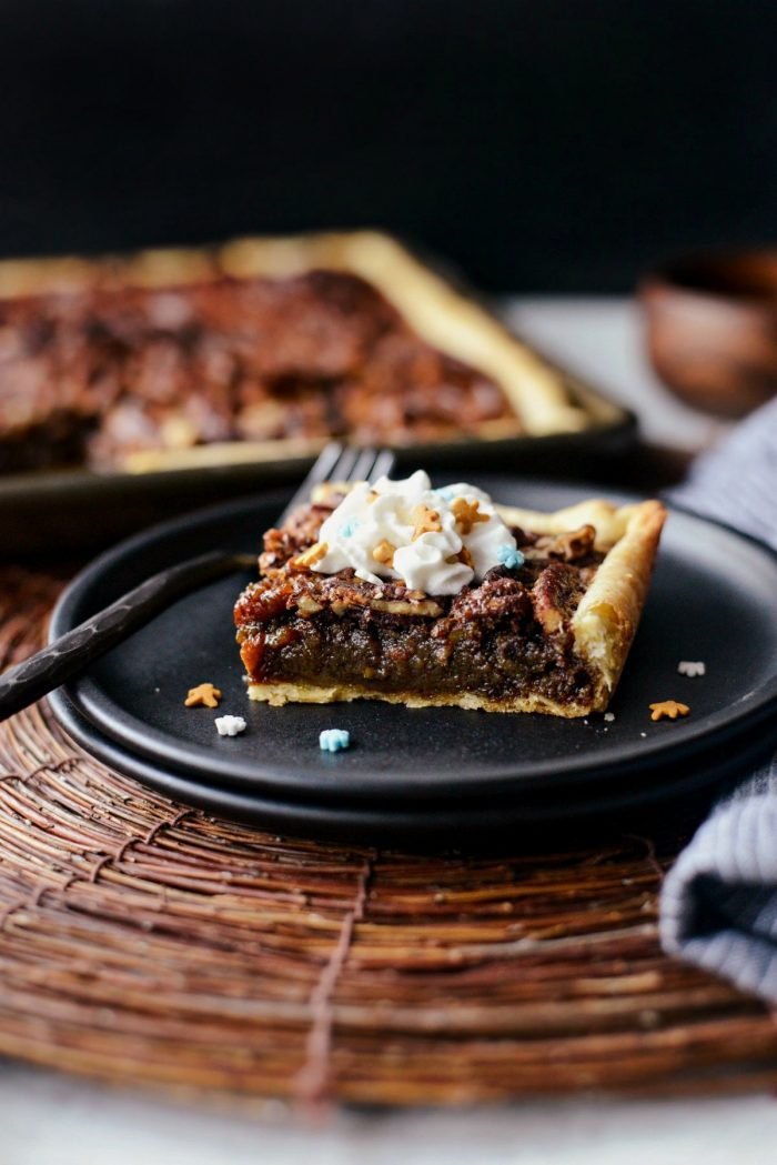 Gingerbread Pecan Slab Pie l SimplyScratch.com #gingerbread #pecan #slab #pie #christmas #thanksgiving #dessert #homemade