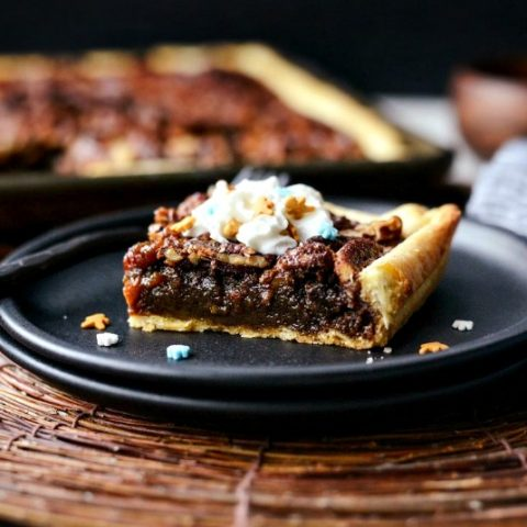 Gingerbread Pecan Slab Pie