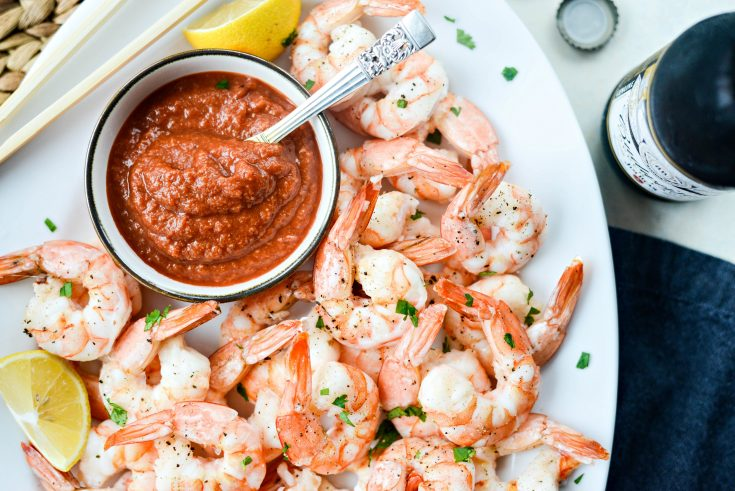 Roasted Shrimp with Homemade Cocktail Sauce