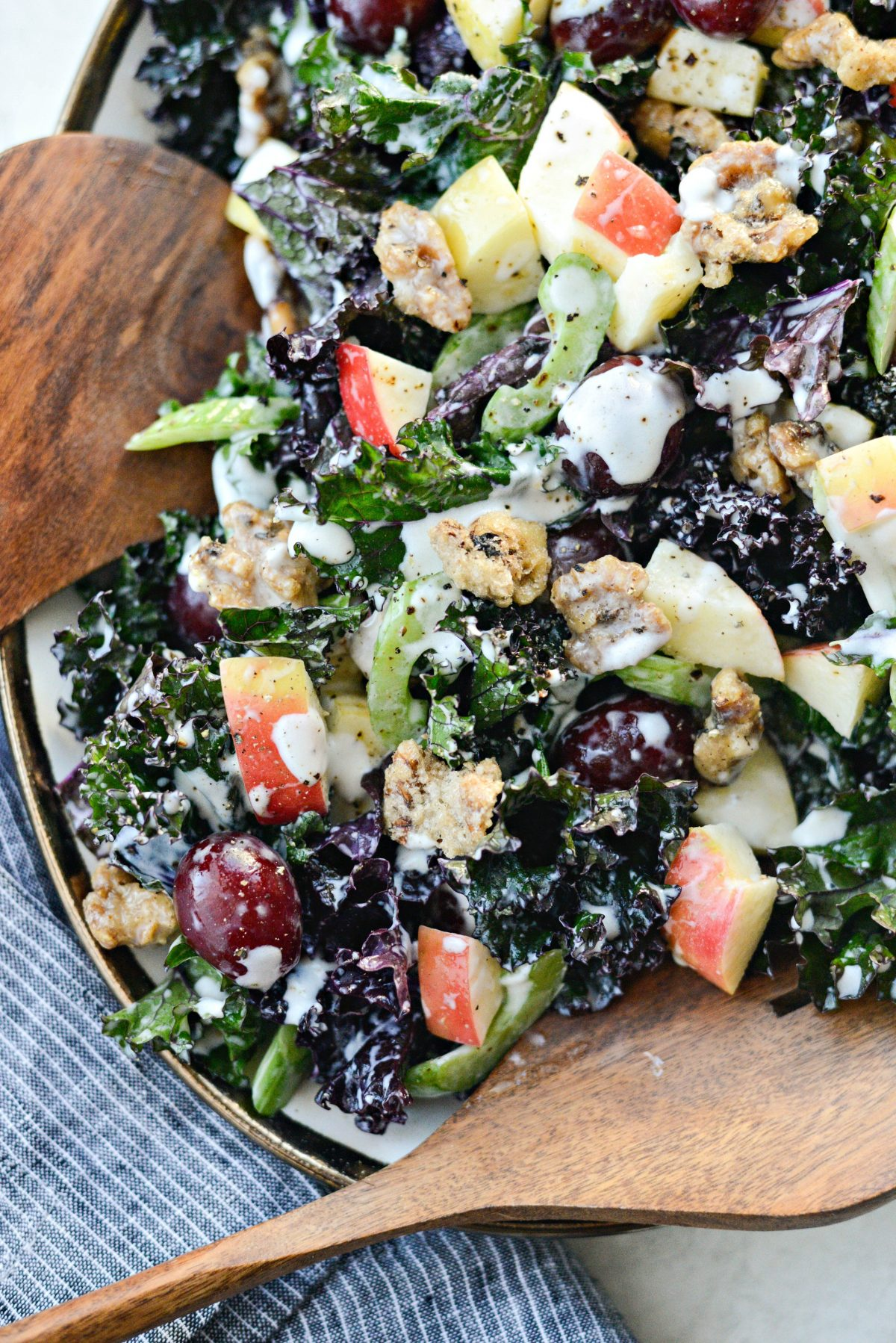 Waldorf Kale Salad l SimplyScratch.com