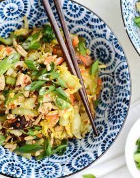 Chicken Egg Roll Bowl l SimplyScratch.com