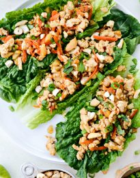 Ginger Cashew Turkey Lettuce Wraps l SimplyScratch.com