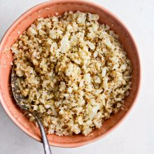 Roasted Cauliflower Rice l SimplyScratch.com