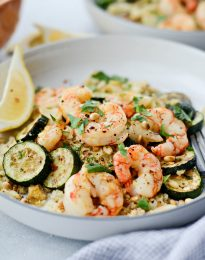 Sheet Pan Lemon Garlic Shrimp and Zucchini l SimplyScratch.com