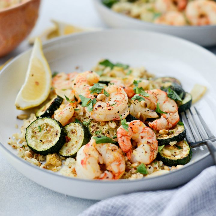 Sheet Pan Lemon Garlic Shrimp and Zucchini