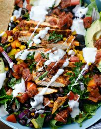 Southwest Chicken Salsa Ranch Taco Salad l SimplyScratch.com