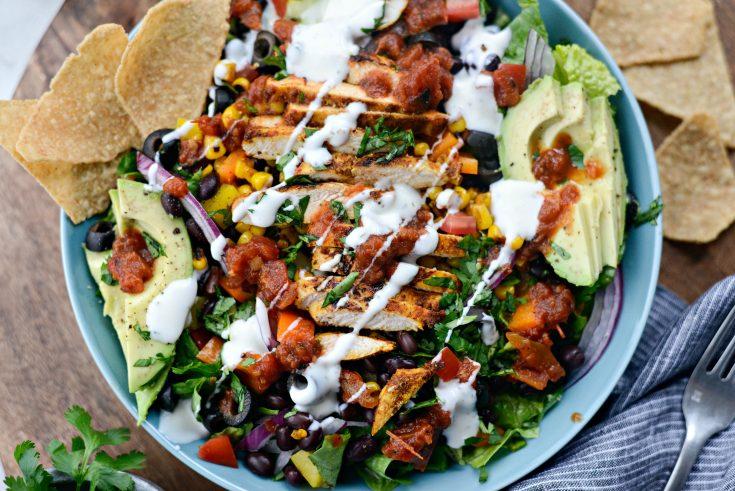 Southwest Chicken Salsa Ranch Taco Salad