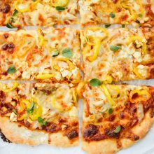 Spicy Chicken Feta Pizza l SimplyScratch.com