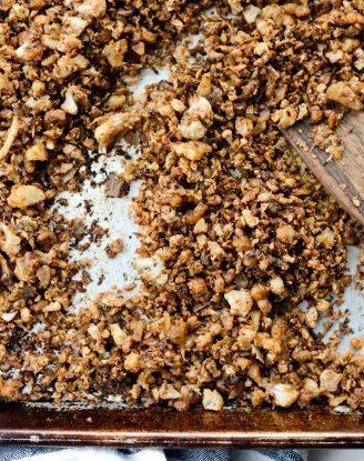 Vegan Cauliflower Taco Meat l SimplyScratch.com
