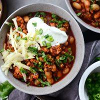 Chipotle White Bean Turkey Chili