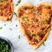 Heart Shaped Personal Pizzas