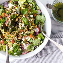 Honcho Chop Salad l SimplyScratch.com #honcho #chop #salad #chopped #texmex #entree #easy #healthy #vegetarian #recipe