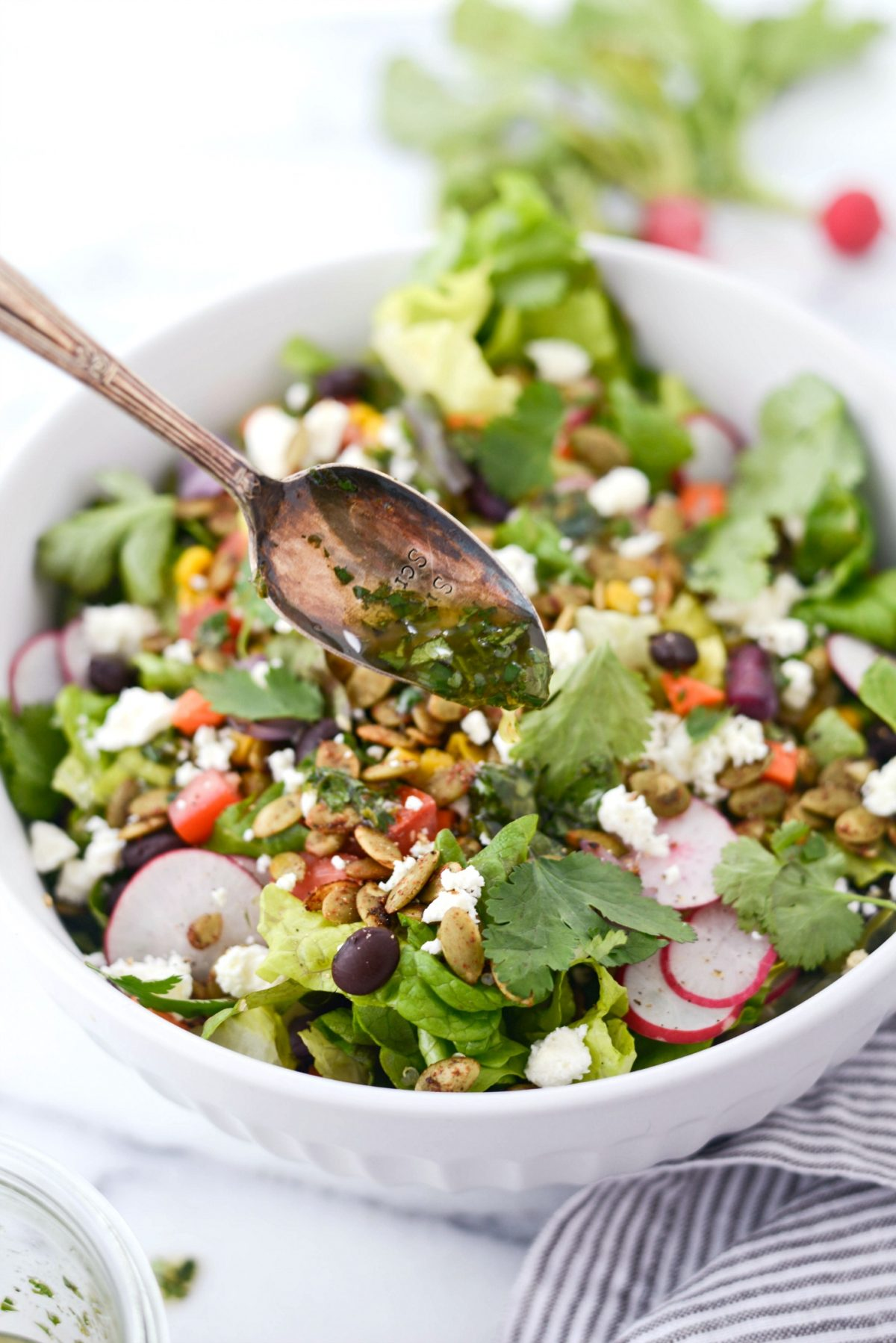 Honcho Chop Salad l SimplyScratch.com #honcho #chop #salad #chopped #texmex #entree #easy #healthy #vegetarian #recipe