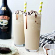 Baileys and Coffee Milkshake l SimplyScratch.com #baileys #irishcream #milkshake #coffee #homemade #boozy #chocolate #drink #beverage #shake #stpatricksday