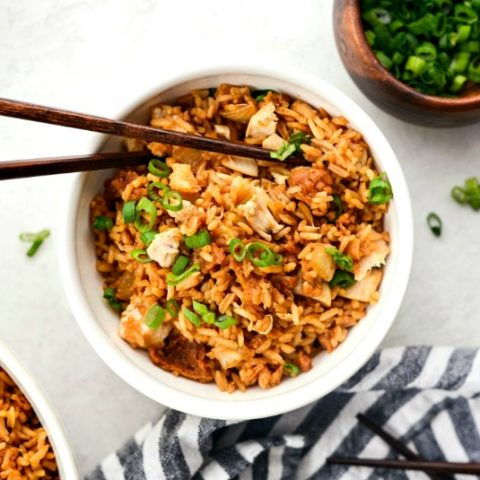 Crispy Fried Chicken Fried Rice