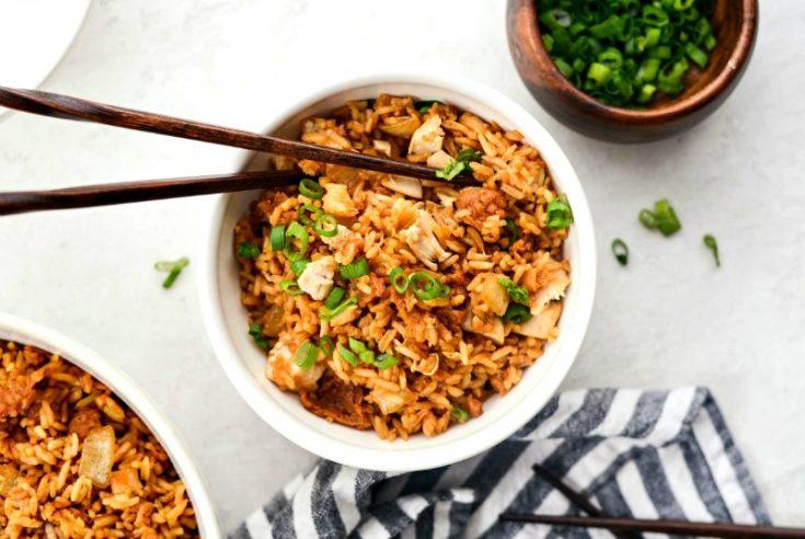 Crispy Fried Chicken Fried Rice