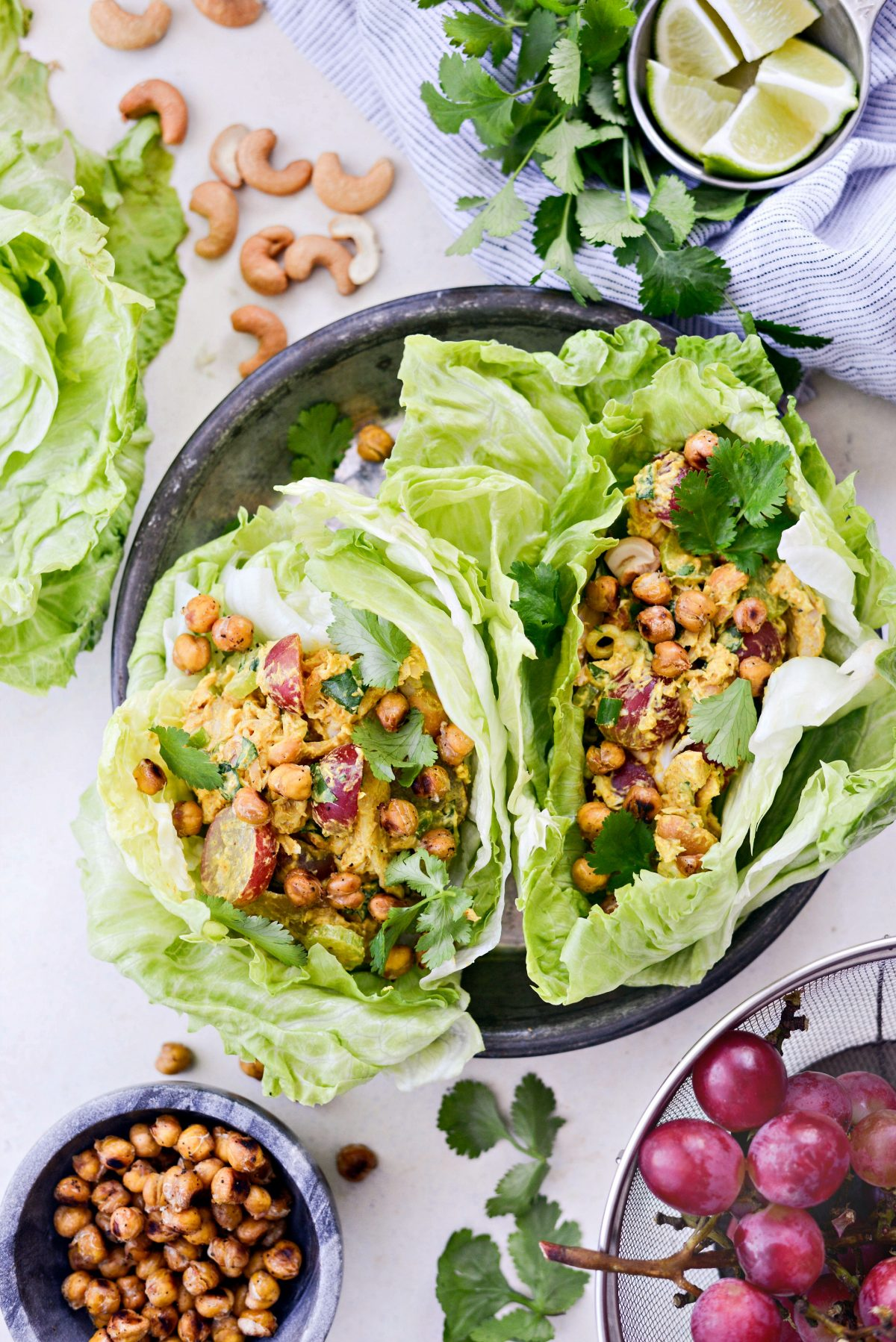Curried Chicken Salad with Grapes and Cashews l SimplyScratch.com #curry #turmeric #chicken #salad #healthy #grapes #cashews #lunch #easy #recipe