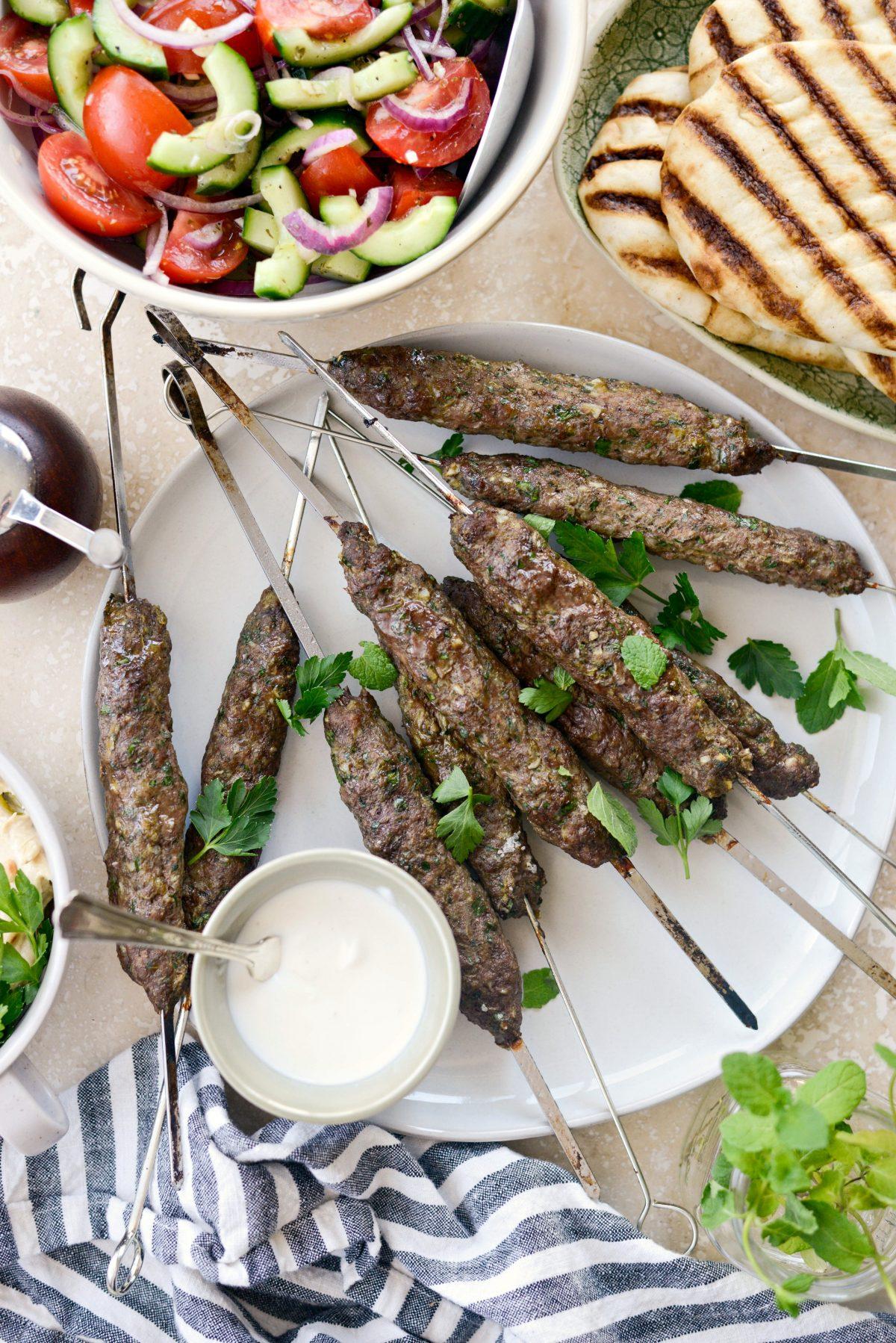 Lamb Kofta Open-Faced Pita l SimplyScratch.com #lamb #kofta #kafta #pita #sandwich