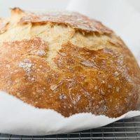 No-Knead Rustic Bread Loaf
