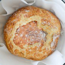 No-Knead Rustic Bread Loaf l SimplyScratch.com #homemade #noknead #bread #loaf #rustic #fromscratch #dutchoven #loaves