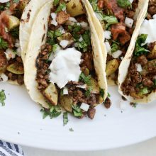 Vegan Chorizo and Crispy Potato Tacos l SimplyScratch.com #vegan #chorizo #potato #tacos