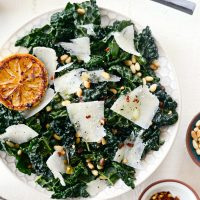 Charred Lemon and Tuscan Kale Salad