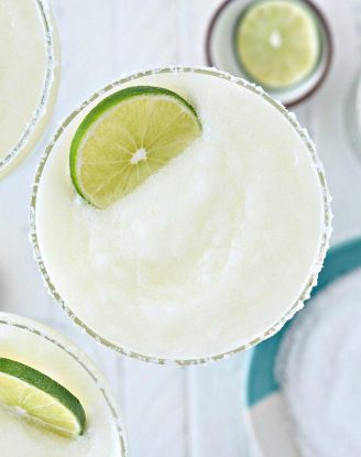 Frozen Margarita Slush l SimplyScratch.com #adultbeverage #margarita #frozen #tequila #cincodemayo #easy #blender #margs #drink