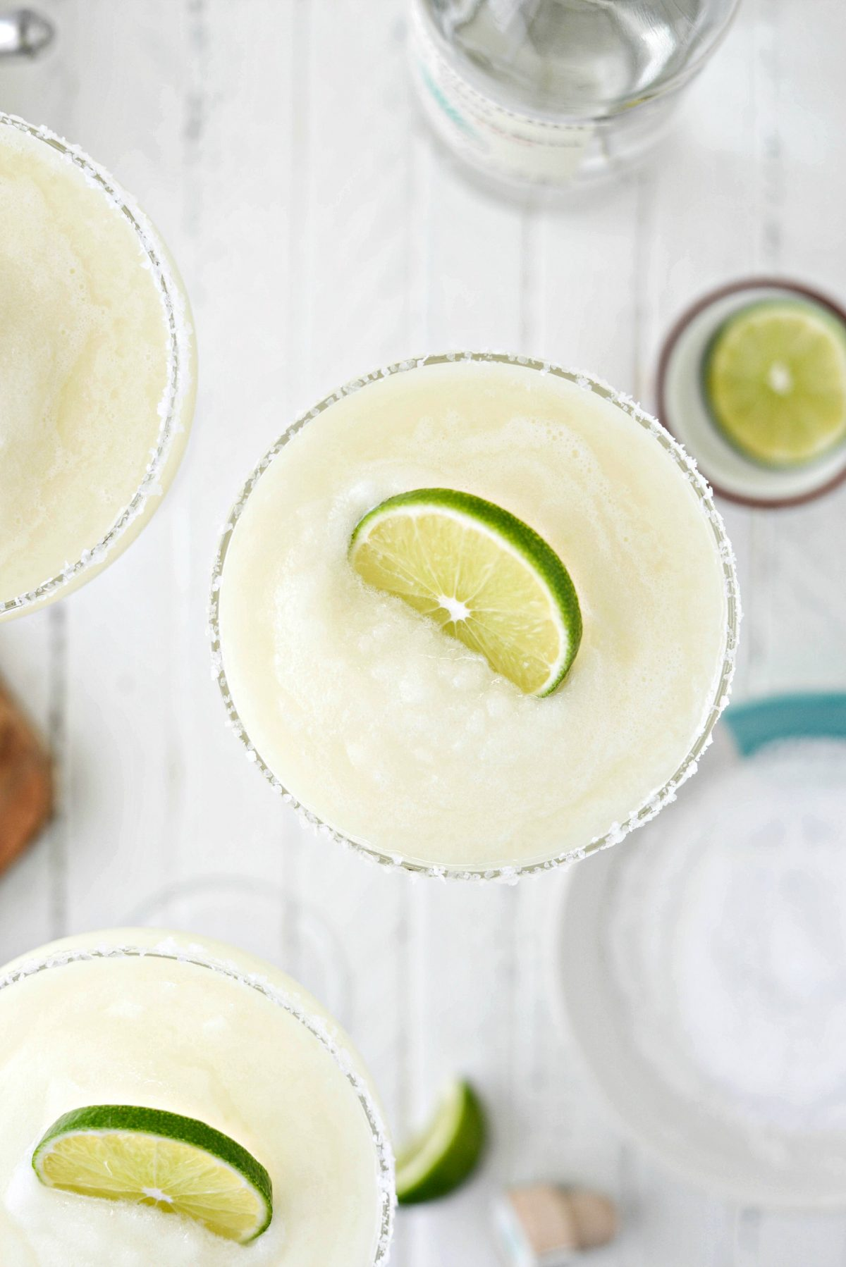 close up of Frozen Margarita Slush