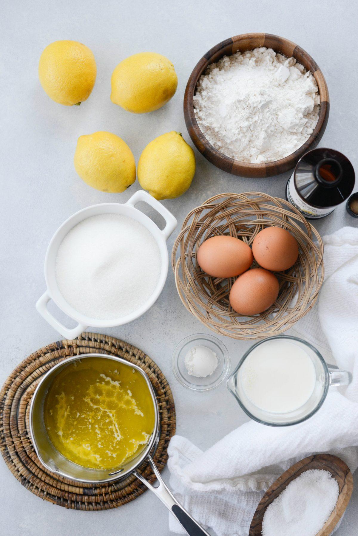 Glazed Lemon Cake ingredients l Simply Scratch.com #glazed #lemon #cake #loaf #starbucks #copycat #simple #dessert