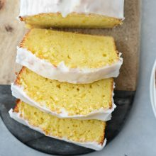 Glazed Lemon Cake l Simply Scratch.com #glazed #lemon #cake #loaf #starbucks #copycat #simple #dessert