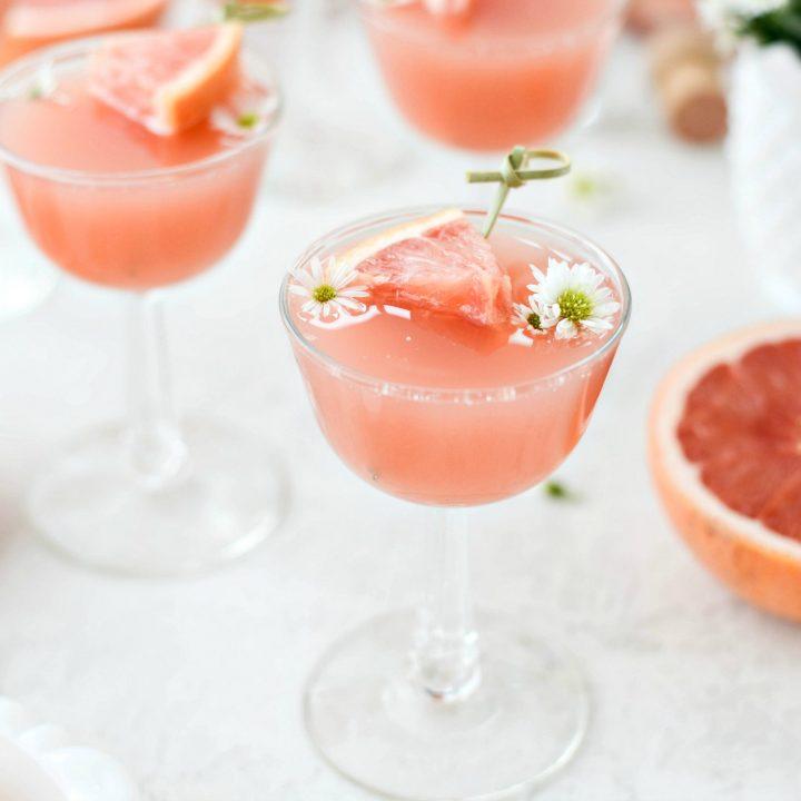 Grapefruit Rosé Mimosas
