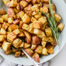 Simple Rosemary Breakfast Potatoes l SimplyScratch.com #rosemary #breakfast #potatoes #hash #sidedish