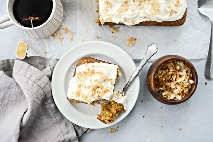 Toasted Coconut Chai Carrot Cake with Mascarpone Frosting