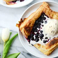 Blueberry Lavender Pastry Pies