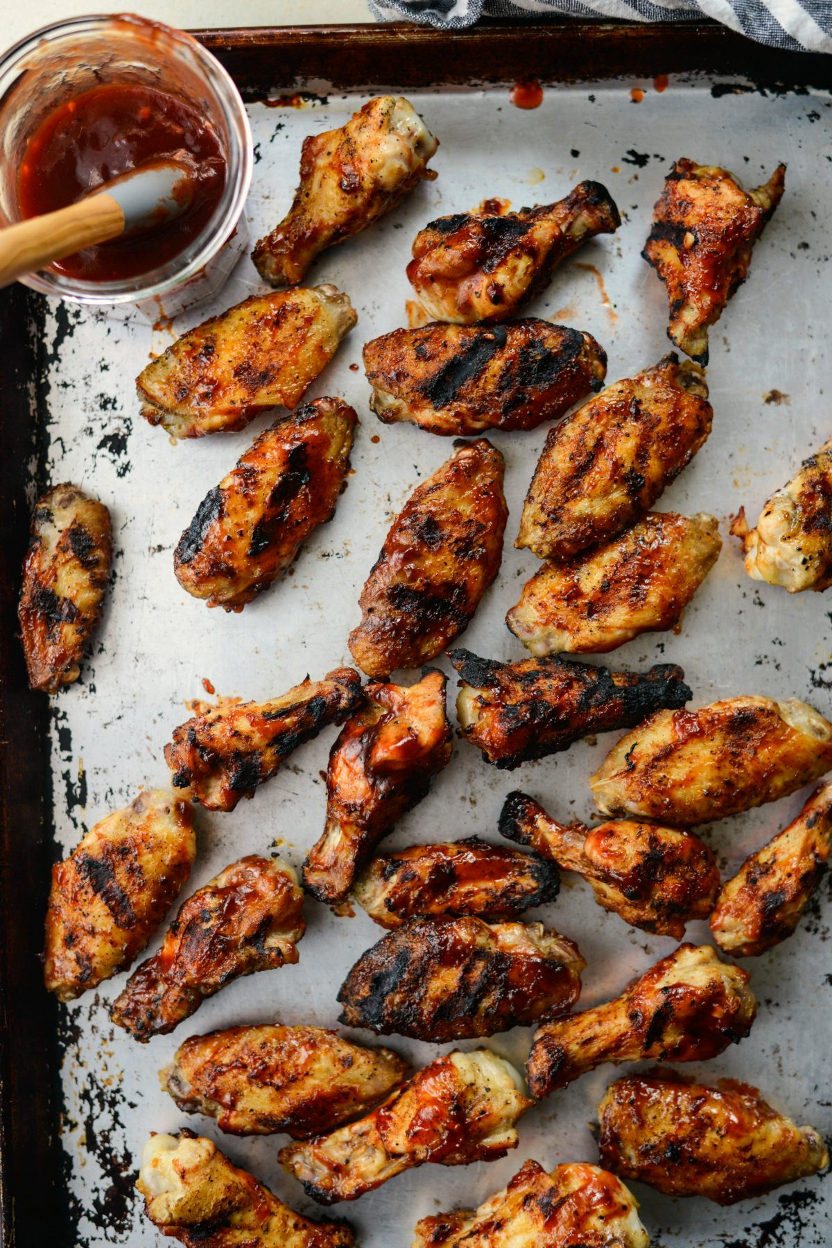 Grilled Cherry Chipotle Chicken Wings l SimplyScratch.com #grilled #wings #cookout #appetizer #homemade #barbecuesauce