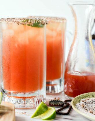Mexican Michelada Recipe l SimplyScratch.com #adultbeverage #cincodemayo #beer #drink #mexican